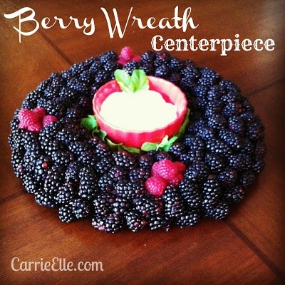 Berry Wreath Centerpiece Tutorial