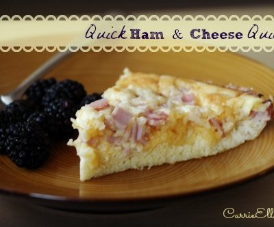 Cooking with Grammie: Quick Ham & Cheese Quiche