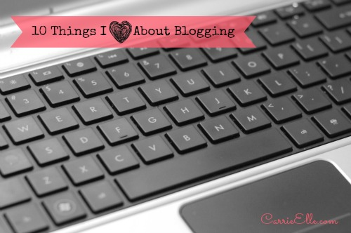 things i love about blogging