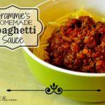 grammie's homemade spaghetti sauce