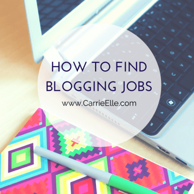 How to find blogging jobs