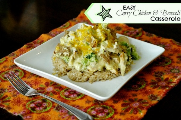 Easy Curry Chicken & Broccoli Casserole