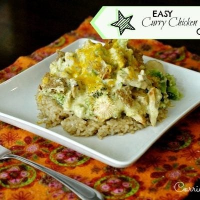 easy Curry Chicken & Broccoli Casserole