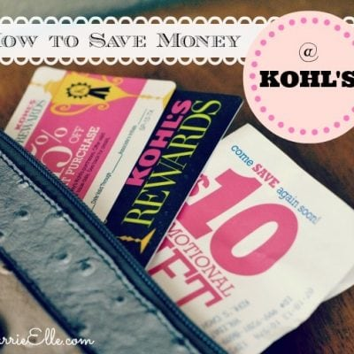how to save money at kohl's