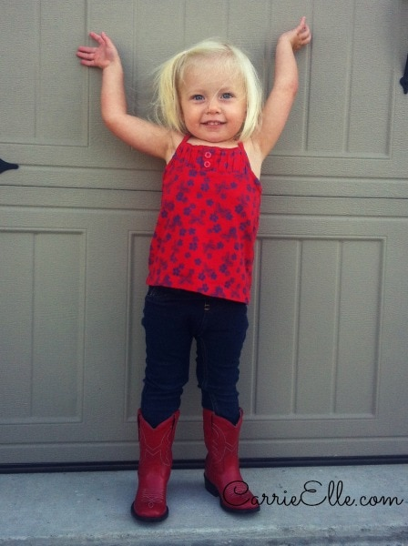 toddler in cowboy boots