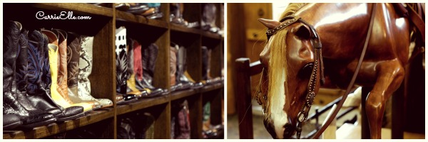 custom boots and custom rocking horse at luskey's
