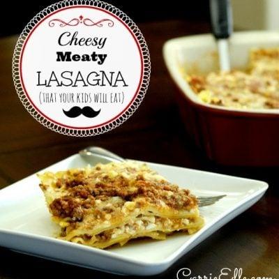 cheesy meaty lasagna