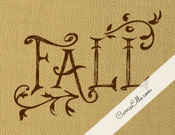 Free Fall Printable Decoration