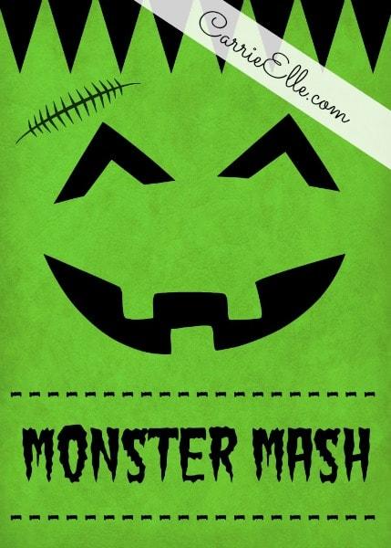 Free Halloween Printable Decoration Frankenstein