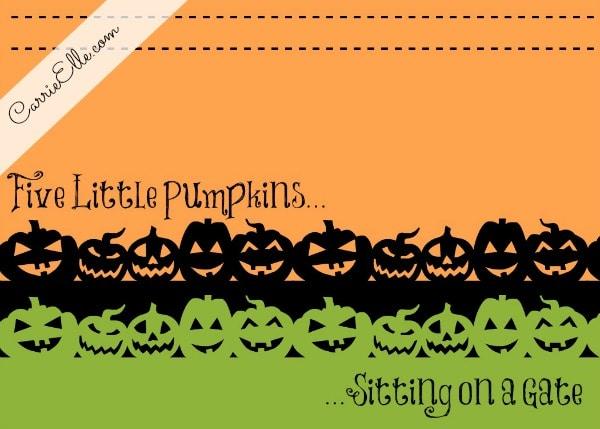 Free Halloween Printable Decoration Pumpkins