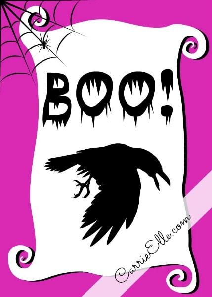Free Halloween Printable Crow
