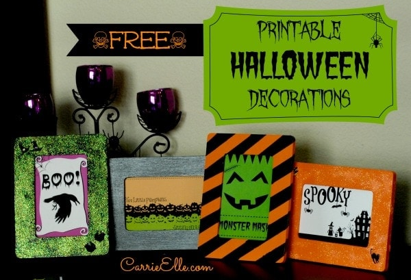 free halloween printables framed