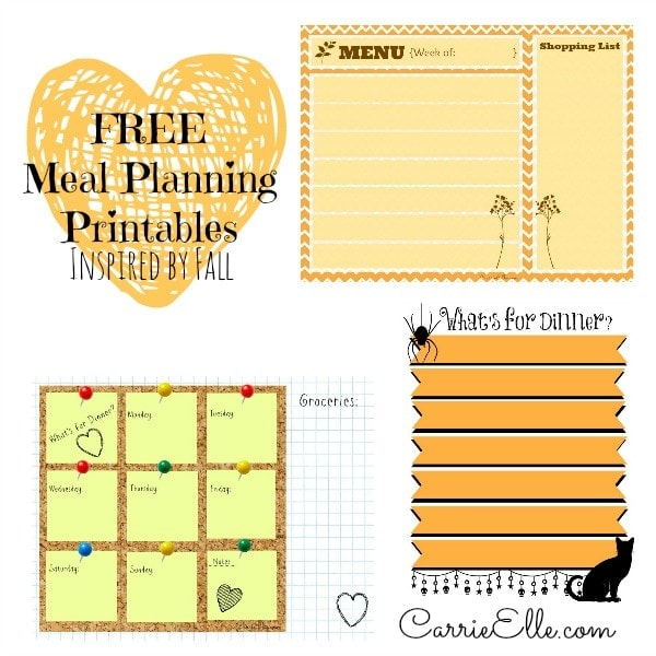 Free Meal Planning Printables for Fall