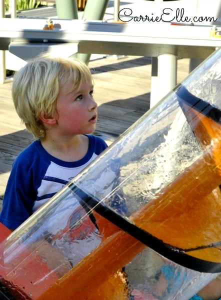 child learning about energy at children's garden