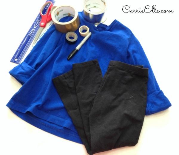DIY Power Rangers Costume supplies