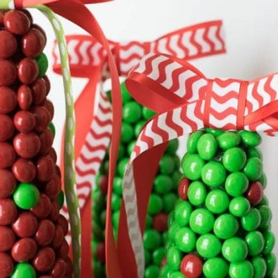 M&M Christmas Tree Craft