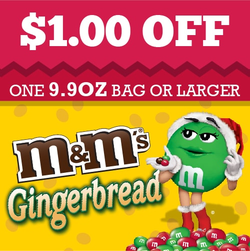 Gingerbread M&M Coupon #shop