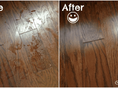 Pledge FloorCare Spot Cleaner Before and After