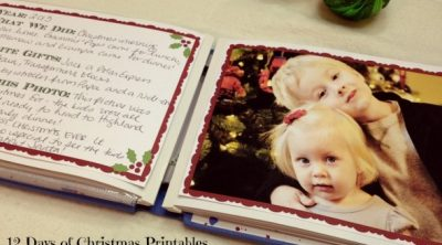 Christmas Scrapbook Template