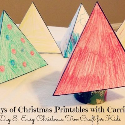 12 Days of Christmas Printables! Day 8: Easy Christmas Craft for Kids