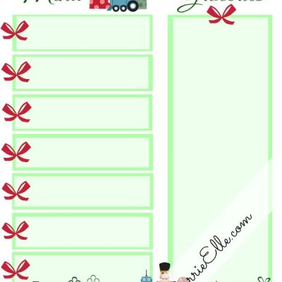 12 Days of Christmas Printables! Day 6: Christmas Meal Planning Printable