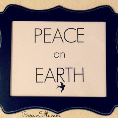12 Days of Christmas Printables! Day 9: Peace On Earth Printable
