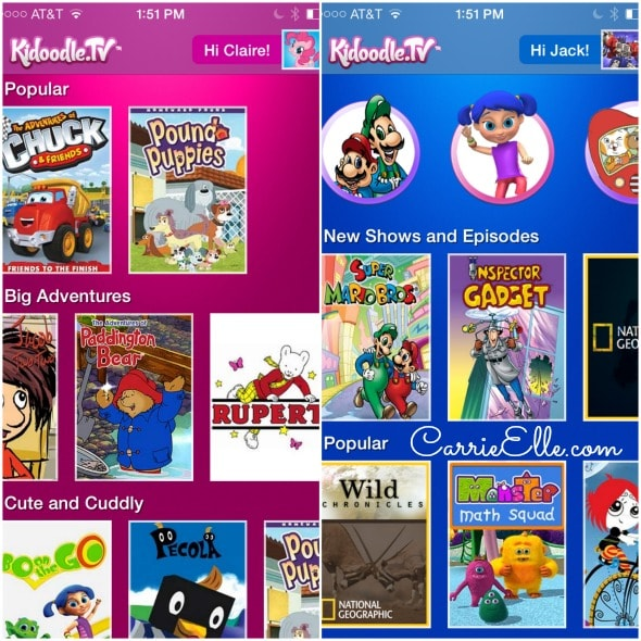 Kidoodle.tv Interface