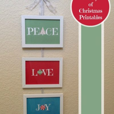 12 Days of Christmas Printables! Day 4: More Peace, Love, and Joy