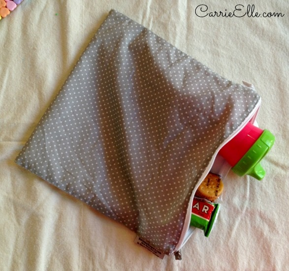 Buttons wet bag for snack storage
