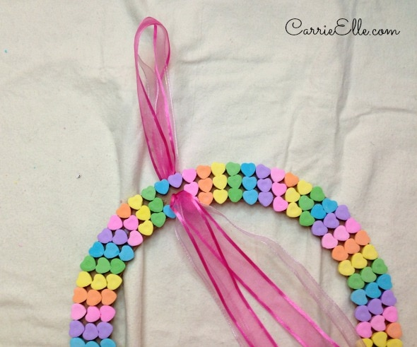 Candy Heart Wreath Bow