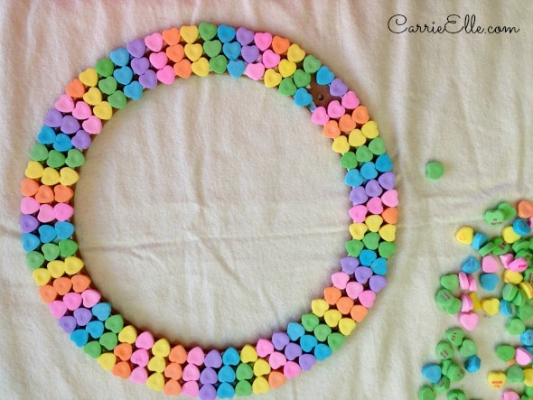Candy Heart Wreath Colors