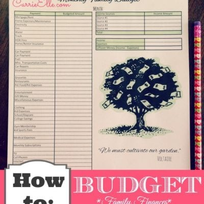 Get Your Finances Under Control with a Monthly Budget