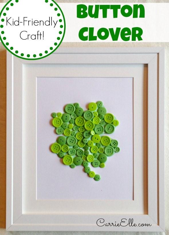 Button Clover Craft