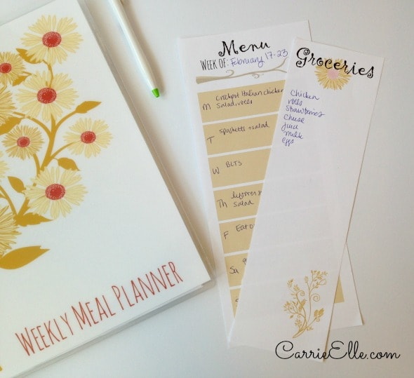 Meal Planner with Perforated Pages