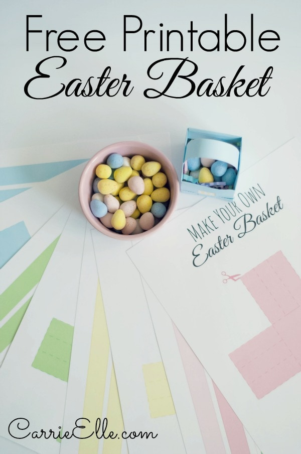 Free Printable Easter Basket Templates