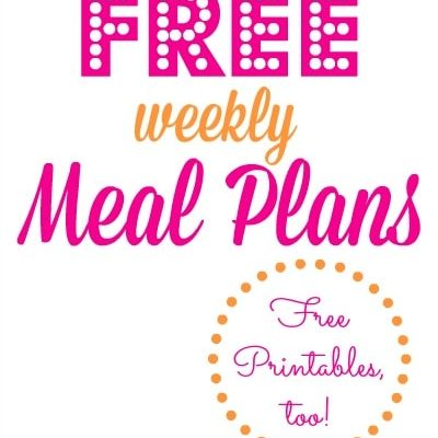 Free Weekly Meal Plans – Week #1