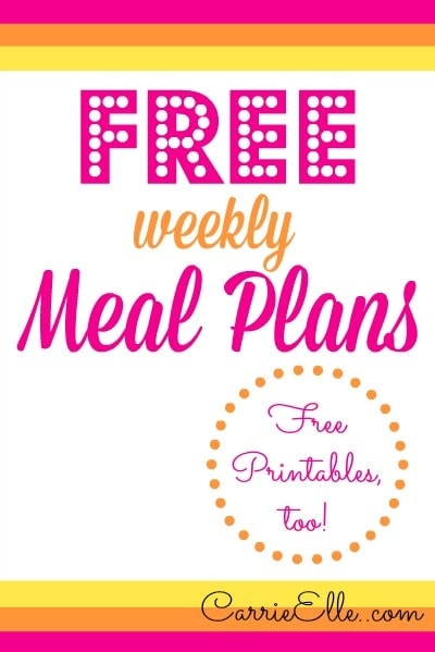 Free Weekly Meal Plans