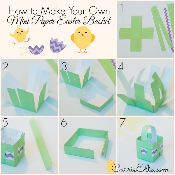 Free printable easter baskets make your own easter basket tutorial negle Image collections