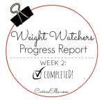 Weight Watchers Progress Report Week 2
