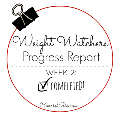 Weight Watchers, Week 2: Update
