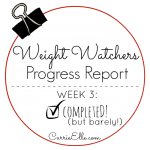 Weight Watchers Progress Report Week 3