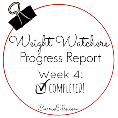Weight Watchers Update: Week 4