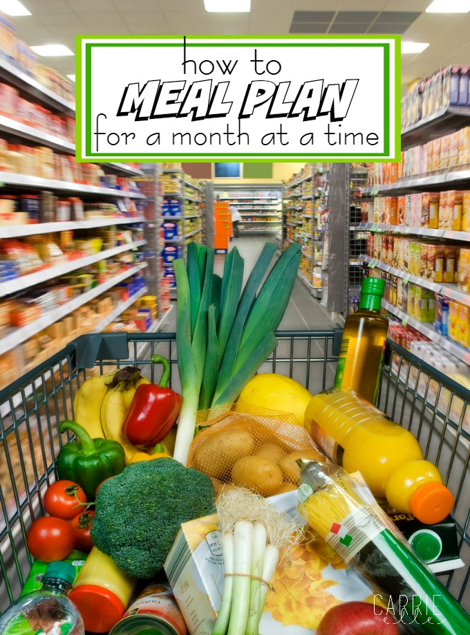 How to Meal Plan for a Month at a time
