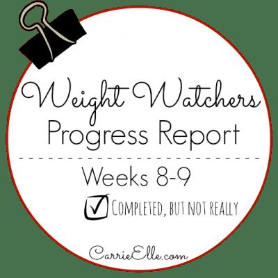 Weight Watchers Update: Week 9