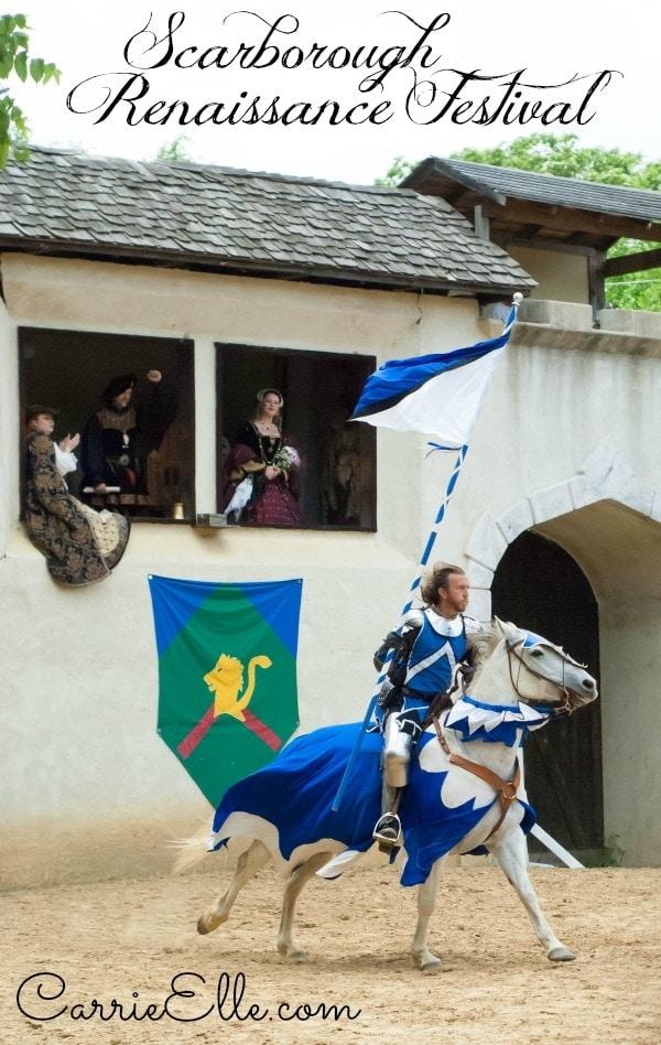 Jousting Knight at Scarborough Renaissance Festival