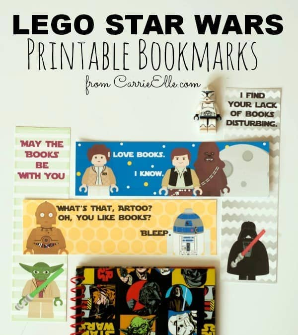 picture relating to Star Wars Bookmark Printable referred to as Lego Star Wars Printable Bookmarks - Carrie Elle