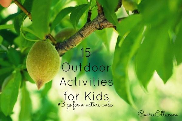 Outdoor activities nature walk