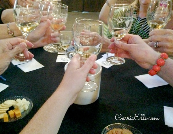 Cheers at Delaney Vineyard