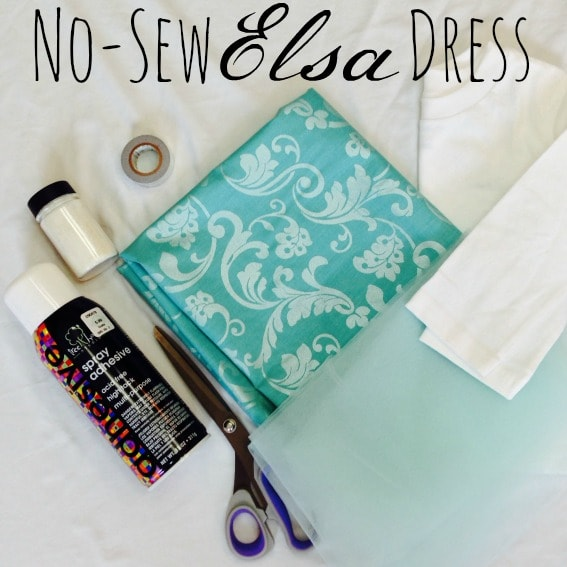 No-Sew Elsa Dress Instructions