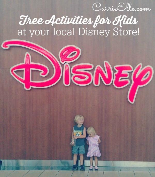 Free Disney Store Activities